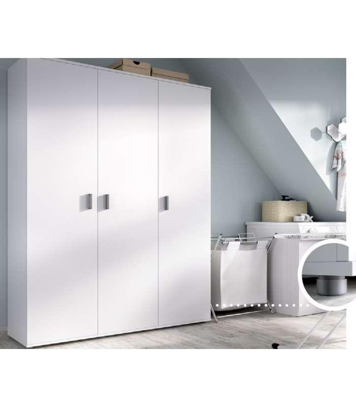 Wardrobe Multi-purpose White 3 Doors.