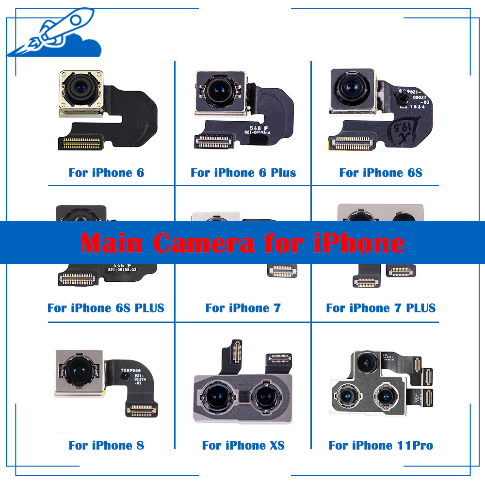 ELEKworld OEM Back Rear Camera With Flash Module Sensor Flex Cable For IPhone X XR XS 6 6S 7 8 Plus XS MAX 11 11Pro Test Well