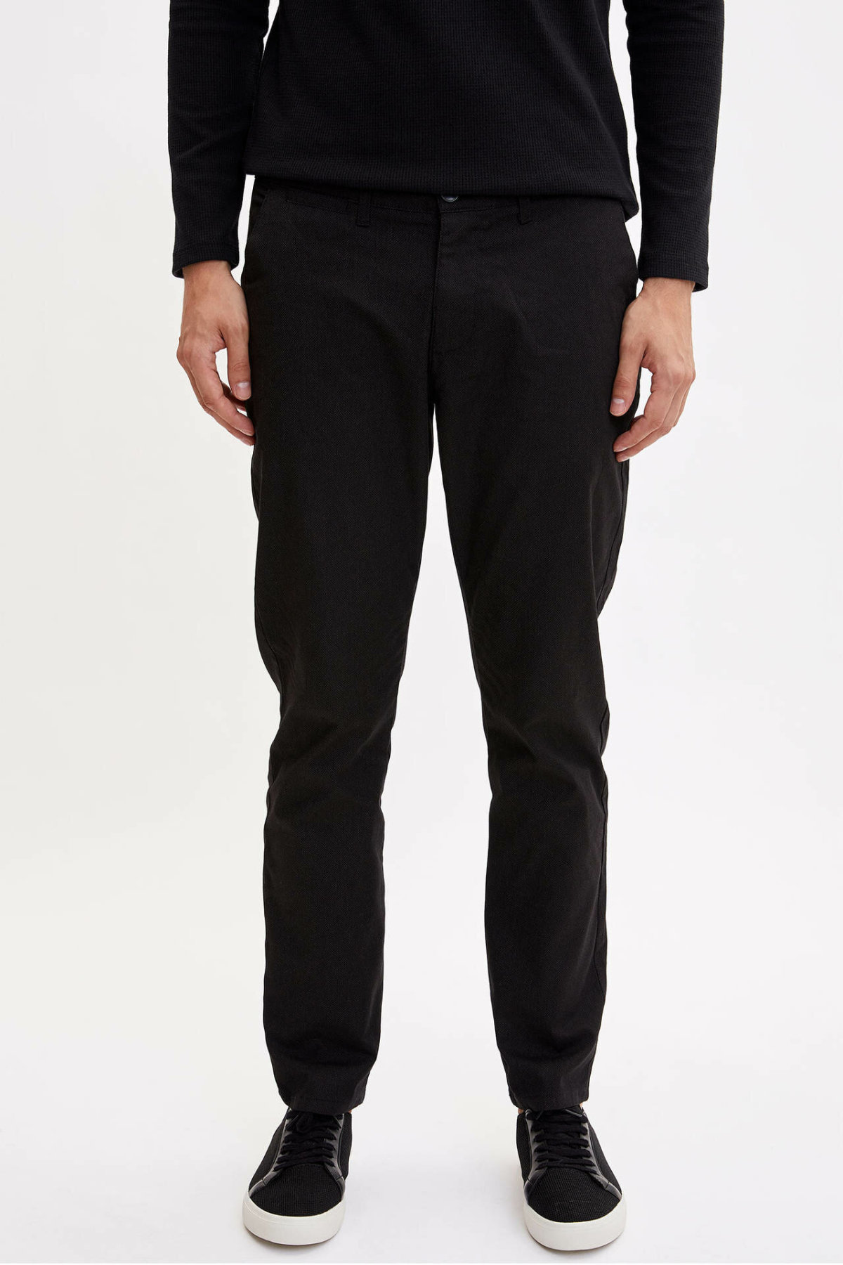 DeFacto Man Summer Straight Long Pants Men Smart Casual Black Bottoms Male Formal Cargo Pants Trousers-L1541AZ19SM