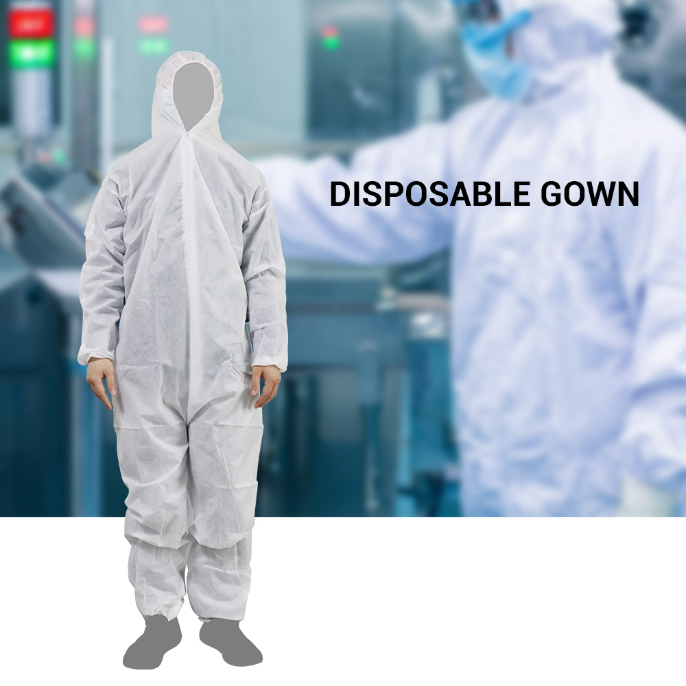 High Antibacterial Reusable Isolation Suit Prevent Invasion Of Staff Protective Clothing Dust-proof Coveralls Antistatic