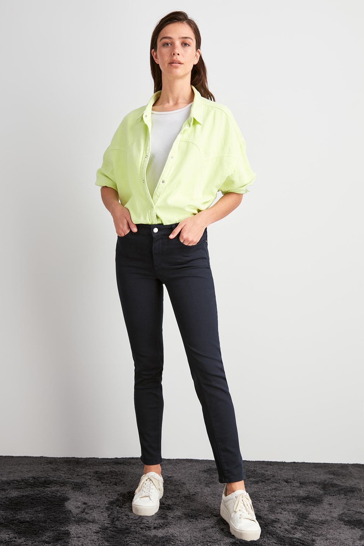 Trendyol Normal Waist Skinny Jeans TWOAW20JE0477