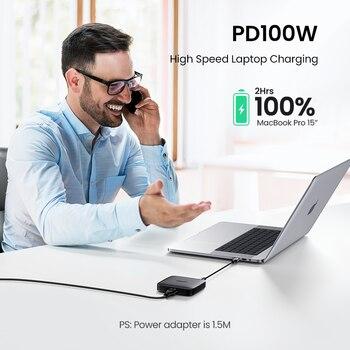 Зарядное устройство UGREEN PD 100 Вт USB Type C 3