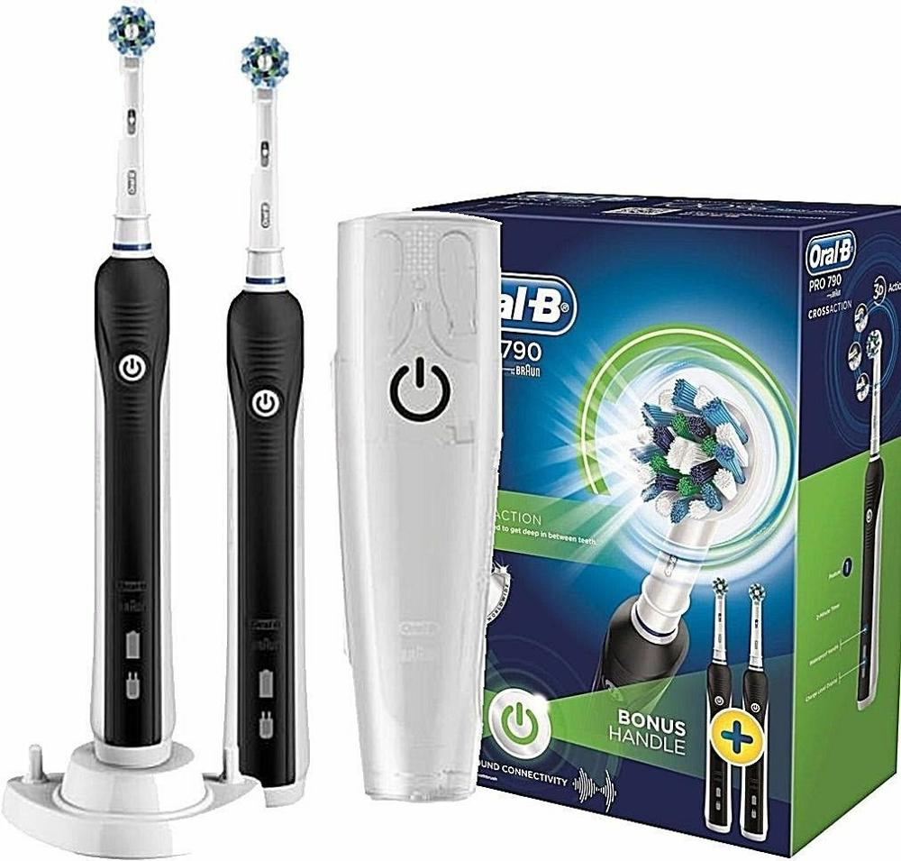 ORAL-B Pro 790 Crossaction Toothbrush - Duo Advantage Package - 2 Handles SALES