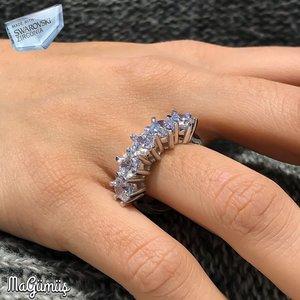 Swarovski Diamond Model Dibs Silver Lady Ring()