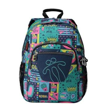 School Bag Queen Totto Acuareles Green (44 X 35 x 14 cm)