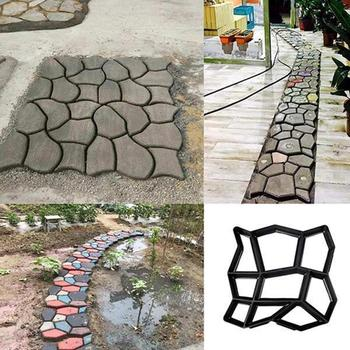 DIY Garden Pavement Mold Walk Concrete Mould Manually Paving Cement Brick Stone Road Molds