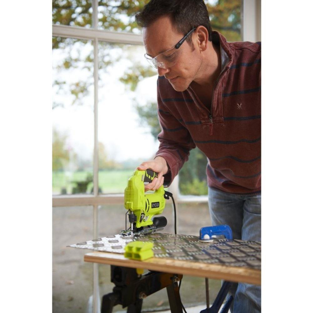 Uf5b18c6466214c0f8c2f2467a4bd1737Z - Ryobi RJS720G 500 Watt Jig Saw. Electric Scroll saw machine. Wired wooden hand saw