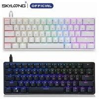 Tastiera meccanica Skyloong GK61 SK61 AK61 Wireless Bluetooth Gateron Mx RGB retroilluminazione Mini portatile 60% 61 tasti tastiera da gioco