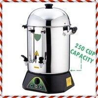 온도 제어-250 컵 용량-상업용 전기 온수 터키 차/커피 메이커 브루어 양조 기계 Urn Percolator