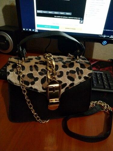 Bolsas de Ombro estampa leopardo bolsas