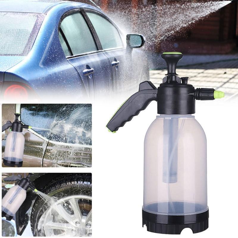 Pistolet à eau de nettoyage de lavage de voiture de pulvérisateur de mousse pressurisé par 2L avec loutil tenu dans la main de rondelle dautomobile de bouteille avec la buse étendue