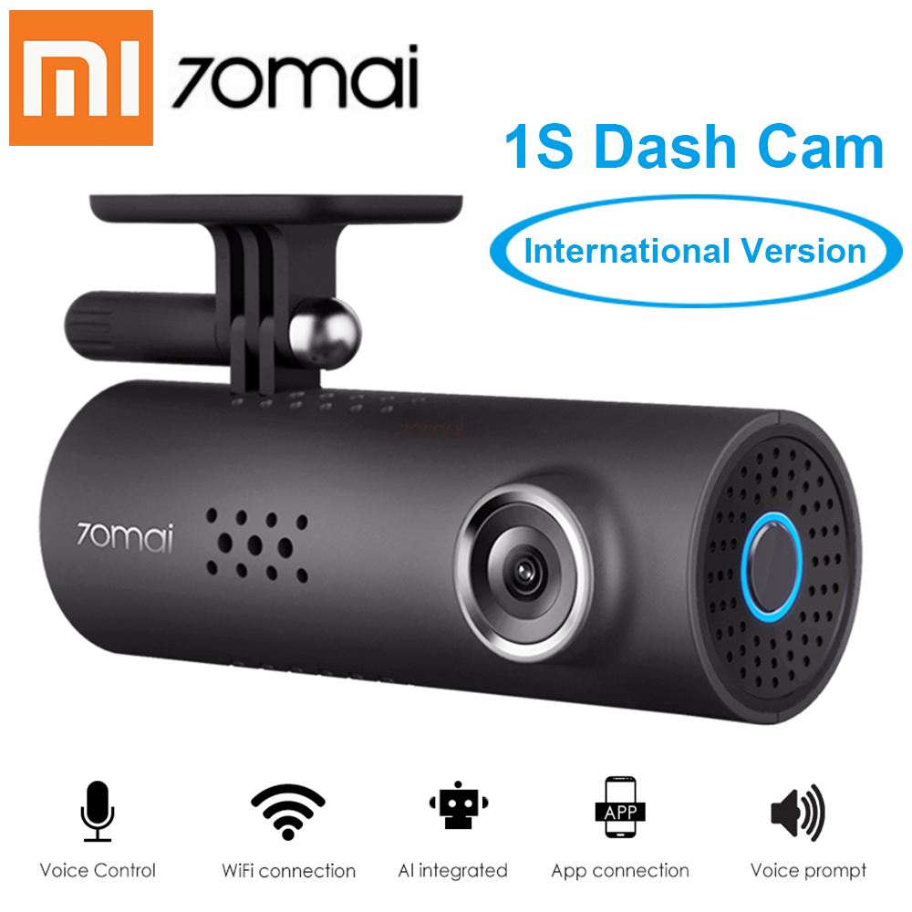 Xiaomi 70Mai 1s App Smart WiFi Car DVR Voice Control Car Dash Cam 1080P Full HD Night Version G-Sensor Driving Recorder English