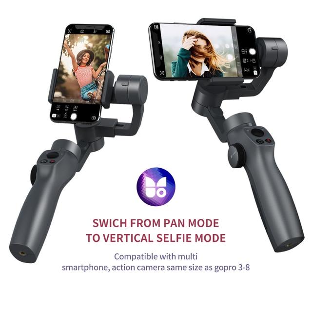 Funsnap Capture2 3 Axis Handheld Gimbal Stabilizer For Smartphone Samsung Iphone X XR 8 7 Gopro Camera Action EKEN 1 Gimbal Kit 5