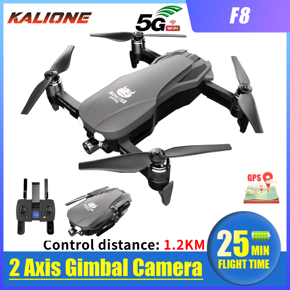 F8 <font><b>Drone</b></font> 4K <font><b>5G</b></font> WIFI GPS <font><b>Drones</b></font> with Camera HD Anti shake Gimbal 1 km Quadrocopter SD card dron profissional VS SG907 L109 image
