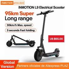 code(-18€):FRMAY018 INMOTION L9 – trottinette électrique pliable, autonomie de 95km Max, style Freestyle, double frein, pour le sport et le divertissement