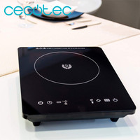 Cecotec Full Crystal Induction Plate Crystal Surface High Resistance Touch Control 10 Levels 2000W Auto Power Off Timer Function