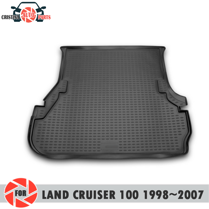 Trunk mat for Toyota Land Cruiser <font><b>100</b></font> 1998-2007 trunk floor rugs non slip polyurethane dirt trunk car styling image