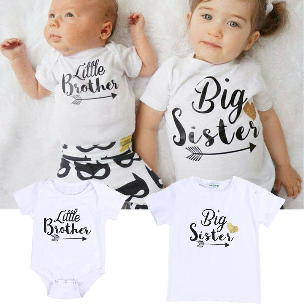 Комбинезон для новорожденного маленького брата, футболка с надписью «Big Sister», одежда, наряды, новинка 2018, хит