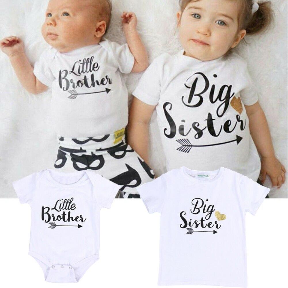 Комбинезон для новорожденного, новорожденного, маленького братика, футболка с надписью Big Sister, новинка 2018