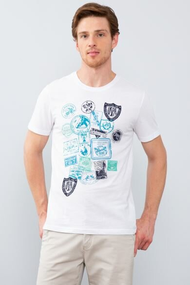 U.S. POLO ASSN. White Crew Neck Slim T-Shirt