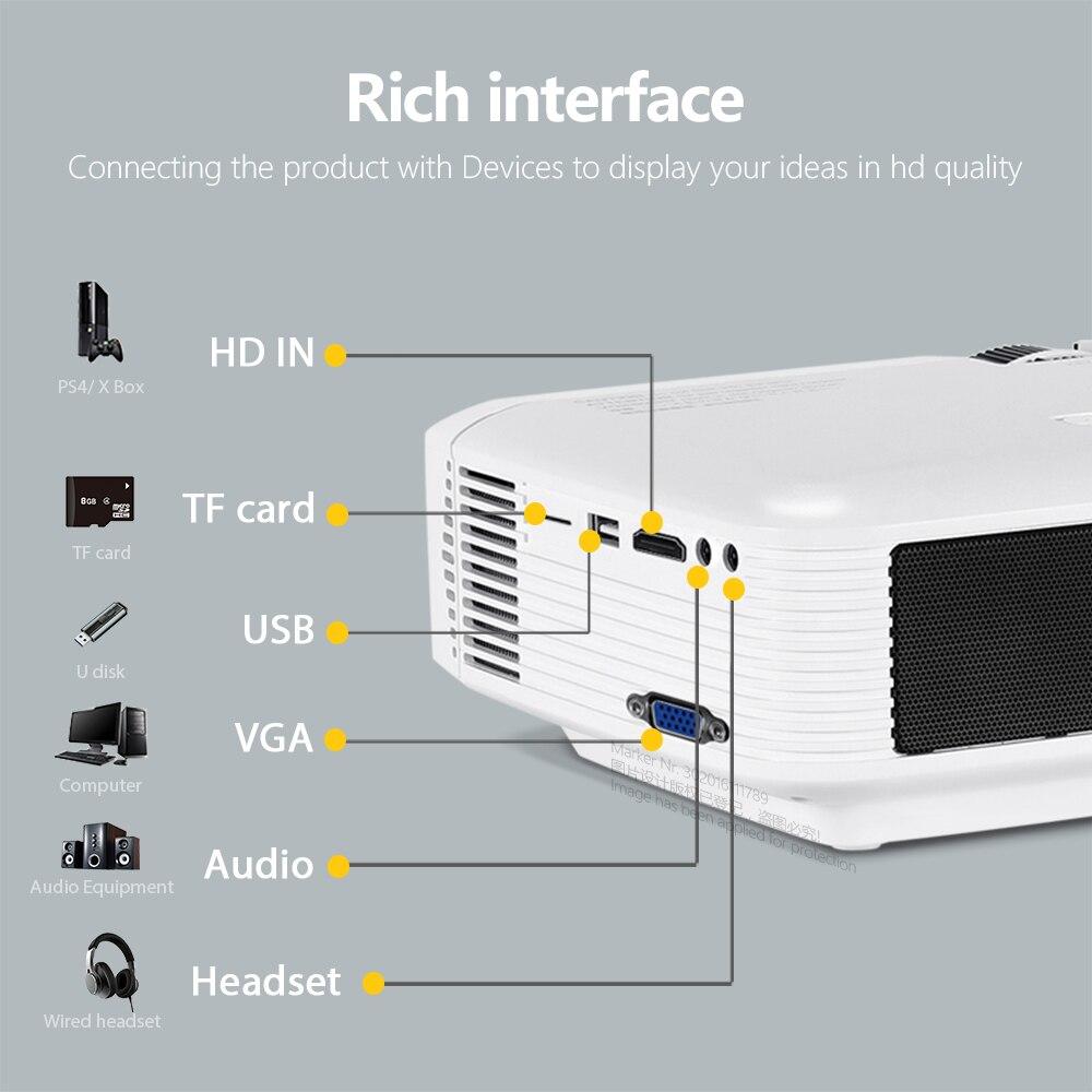 AUN mini projetor D50s  1280x720P/800x480P  suporte android wifi projetor 4k (x96q)   home theater full hd 1080p 3d   mini projetor portátil-5