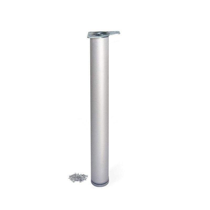 Table Leg Dimmable Emuca D. 80x870mm Anodized Aluminum Matte