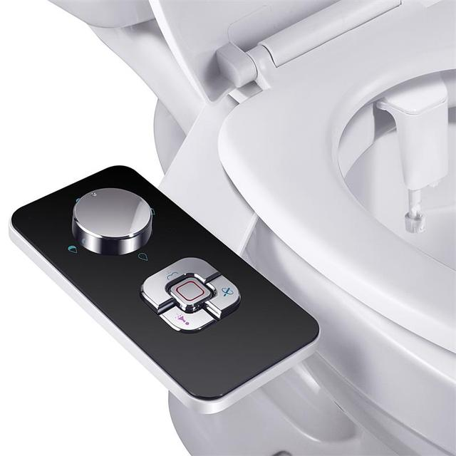 Bidet Toilet Seat Attachment Ultra-thin Non-electric Self-cleaning Dual Nozzles Frontal & Rear Wash Cold Water Personal Hygiene 7