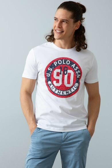 U.S. POLO ASSN. White Crew Neck Slim T-Shirt