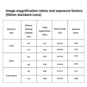 Image 2 - مايكه MK RF AF1 المعادن التركيز التلقائي الماكرو تمديد أنبوب حلقة 11 مللي متر 18 مللي متر لكانون EOS R EOS RP RF سلسلة