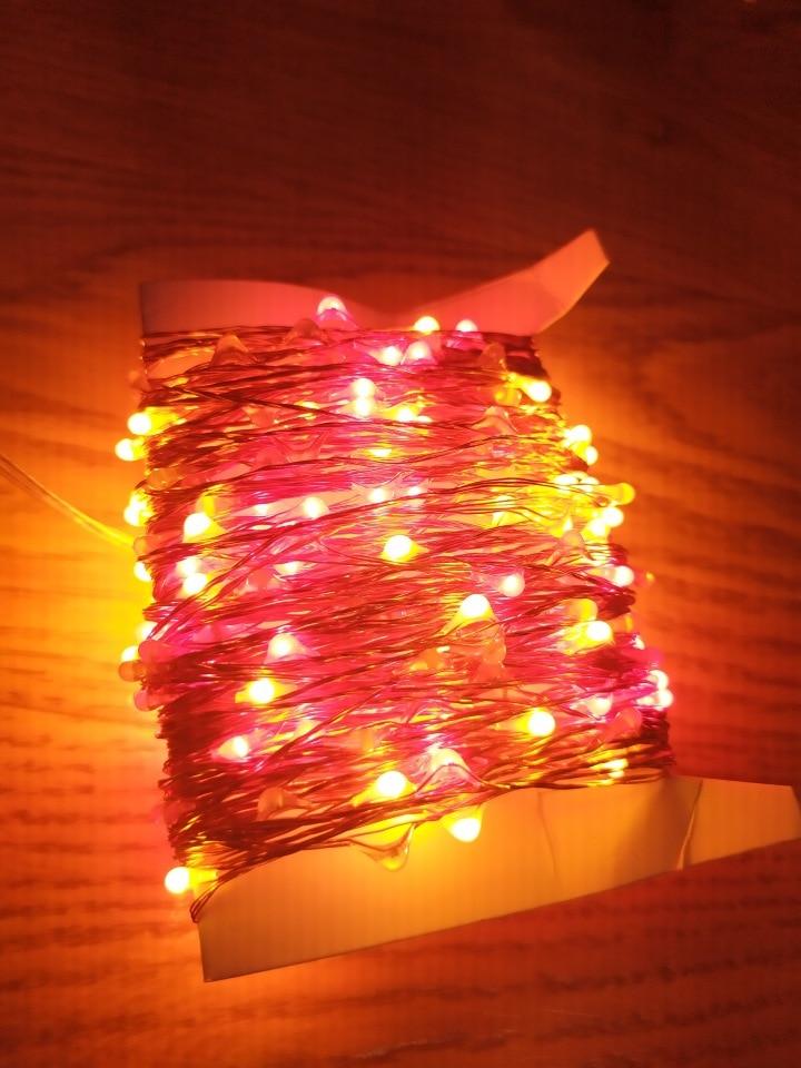 Fios de LED Estrelado Estrelado Guirlanda