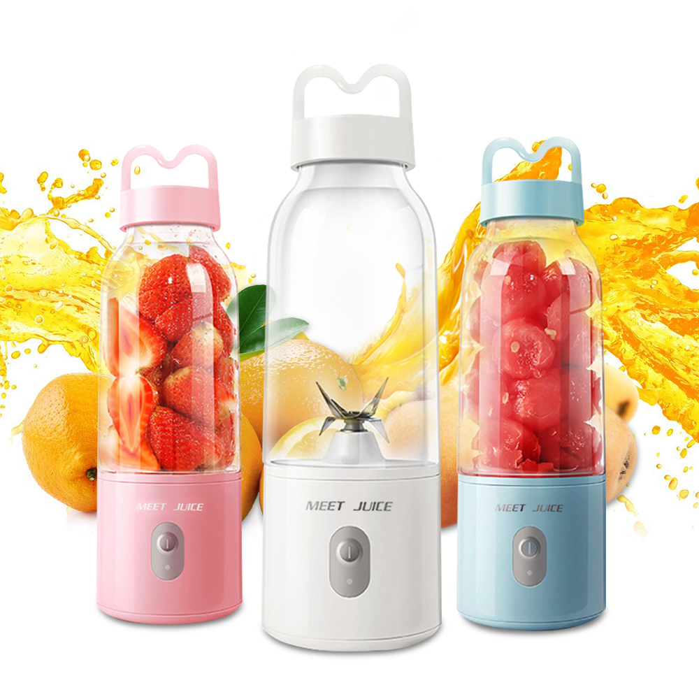 portable mini 6 blades personal blender juicer and electric mixer fruit extractor with usb