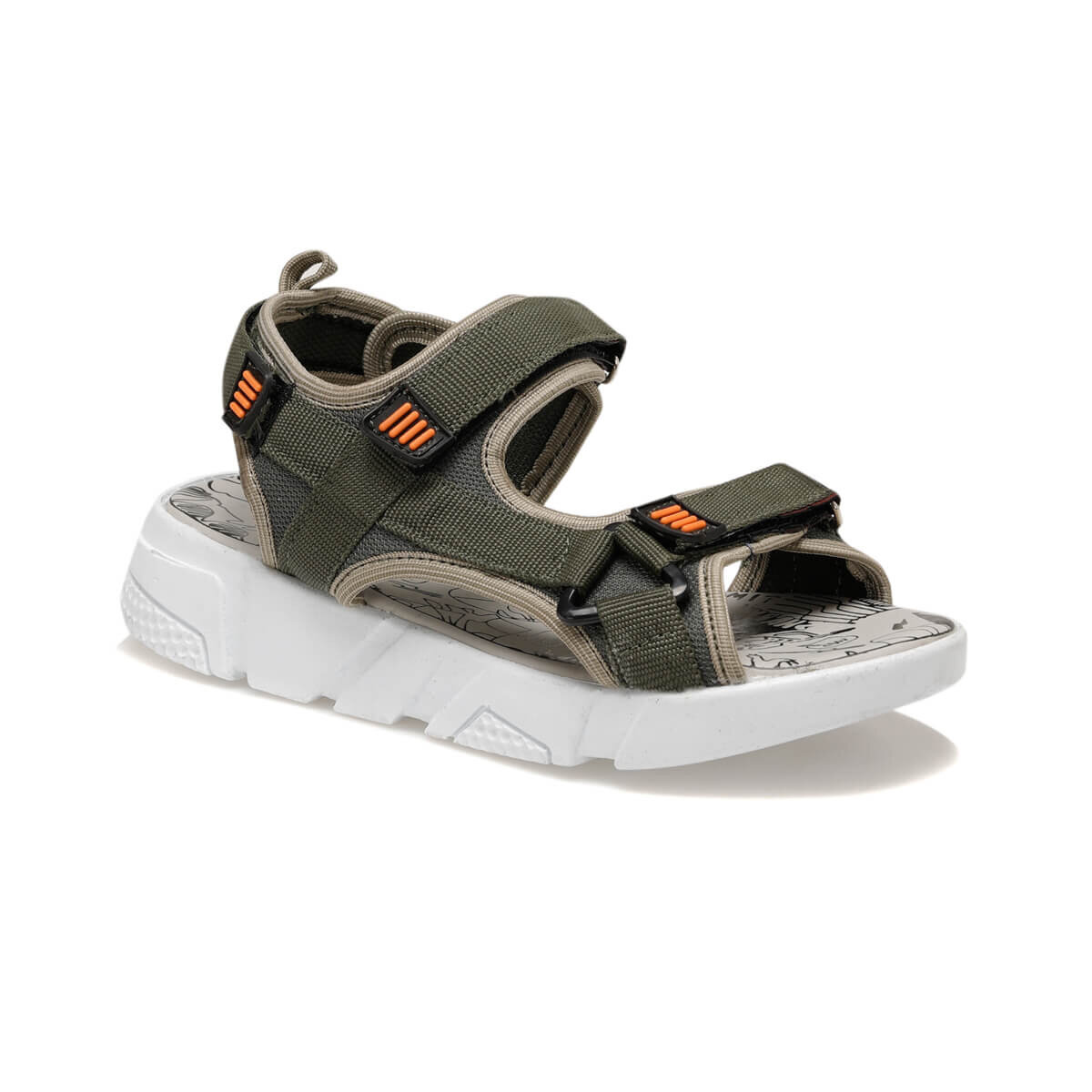 FLO 91.511216.G Green Male Child Sports Shoes Polaris