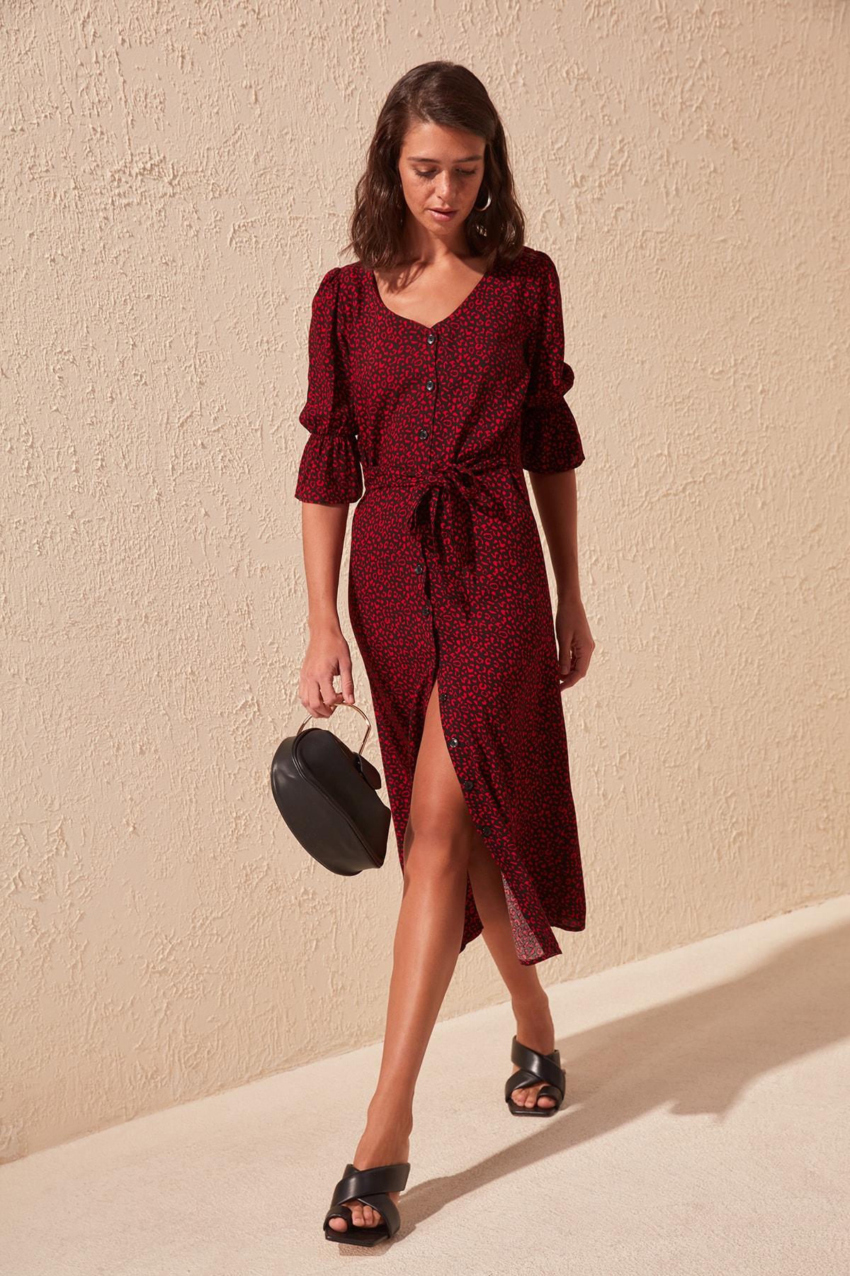 Trendyol Belted Shirt Dress TWOSS20EL1557