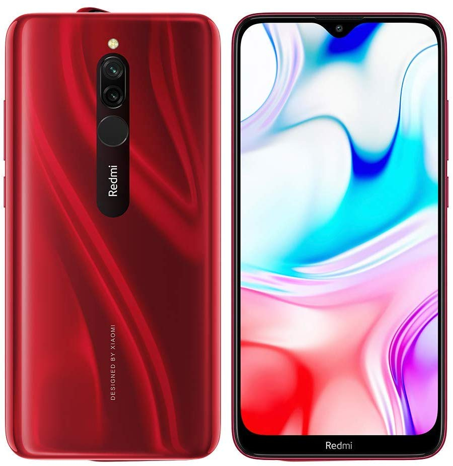 "Phone Xiaomi Redmi 8, Red Color, 32 GB of Internal Memory 3 GB RAM, dual SIM, 6,22 ""Screen, Dual Camera"