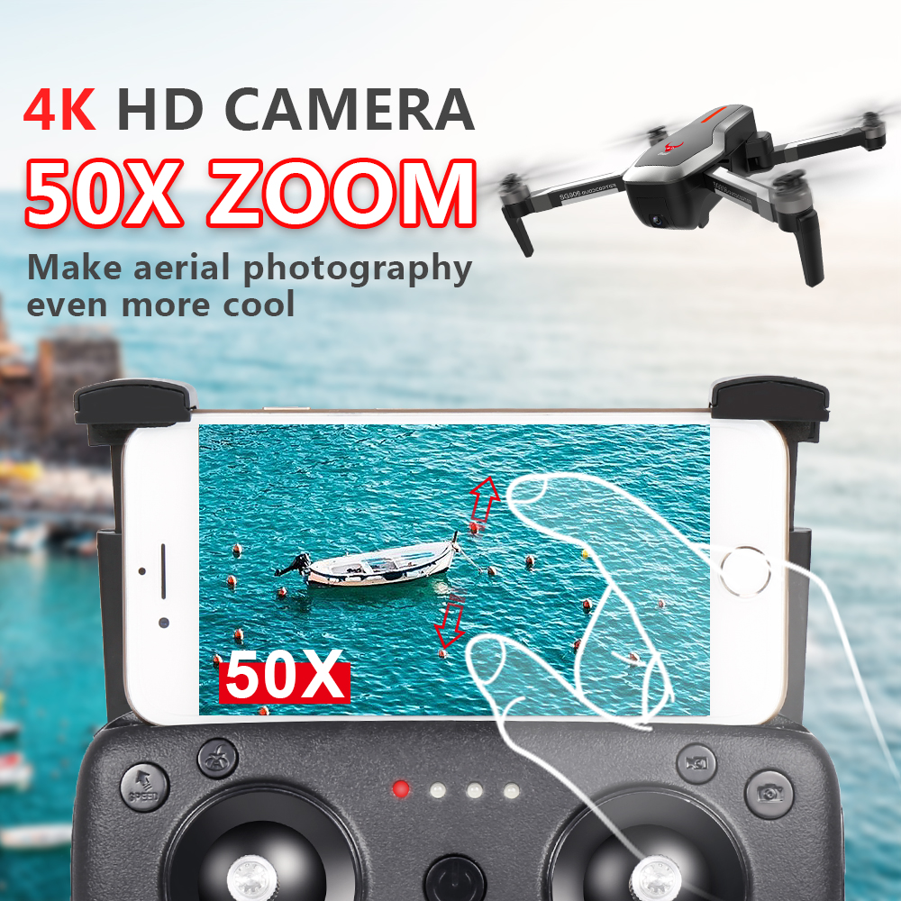 Image 2 - SG906 RC Helicopter GPS Drone 4K with HD camera selfie drone professional Quadrocopter GPS flow positioning Follow Gimbal dronesRC Helicopters   -