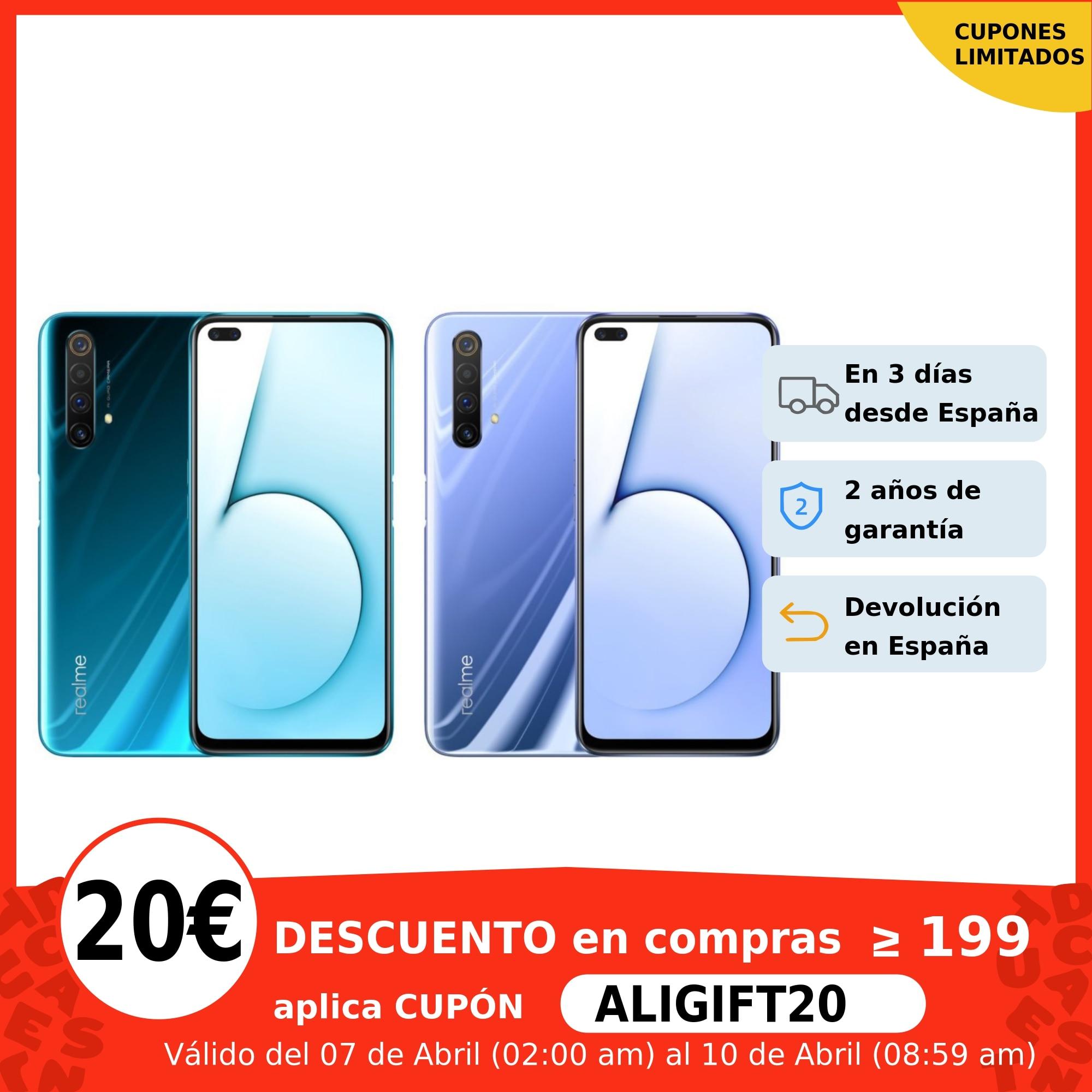 """Realme X50 5G, Smartphone 6GB+128GB, Snapdragon 765G, 6.57"""", 120Hz, FHD+ 30W, Versión España, Plaza, original, nuevo Teléfonos móviles  - AliExpress"""