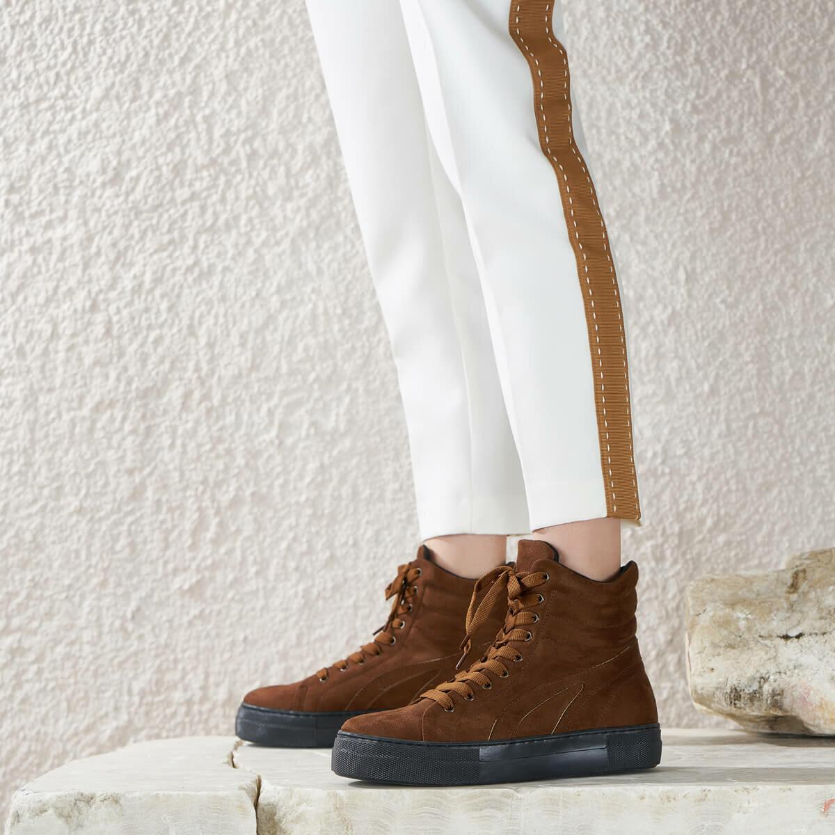 FLO BACH K17Z SUEDE Tan Women 'S Boots BUTIGO