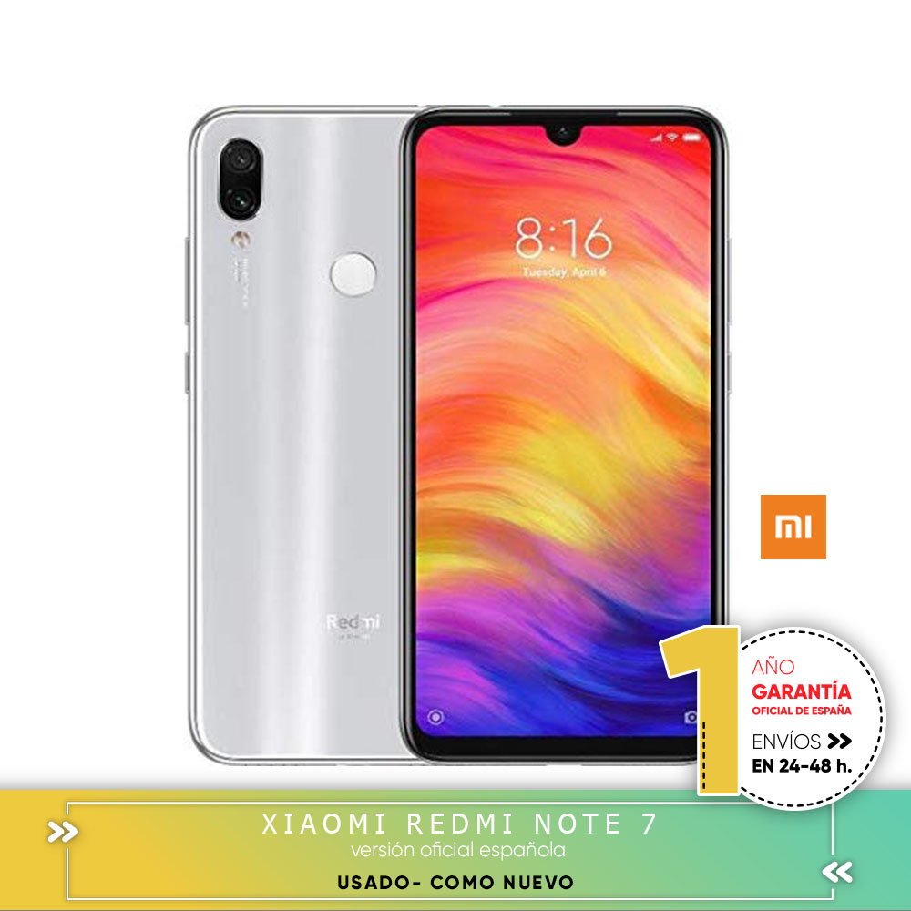 [Official Spanish Version] Xiaomi note redmi 7 Smartphone Second Hand Screen HD + 6,3 4 hard gb + 64 hard gb Battery 4000mAh image