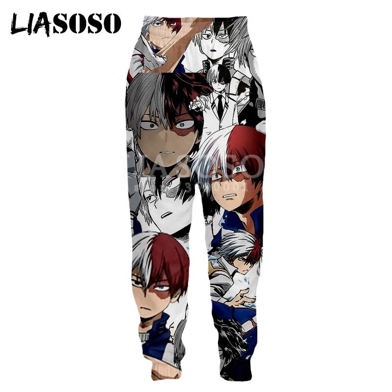 LIASOSO 3d Print Unisex Sweatpants Anime Comics Todoroki Shouto Funny FACES Casual Sweat Pants Jogging Cool Pants X2792
