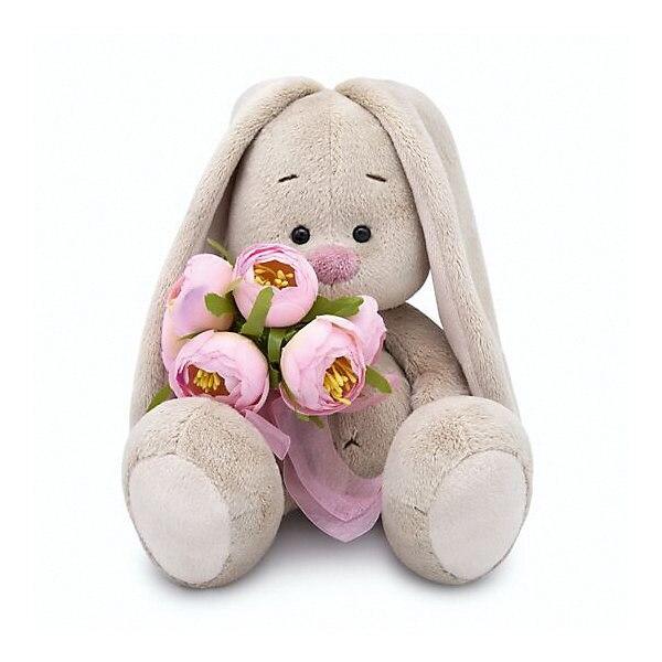 Soft toy Budi Basa Bunny Mi met een bos van rozen, 23 cm MTpromo