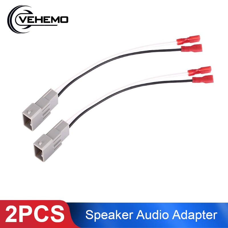 2Pcs Car Speaker Wiring Harness Audio Wire Auto Speaker Connector Adapter 72-7800 Cable Horn Car Accessories For Honda Accord(China)
