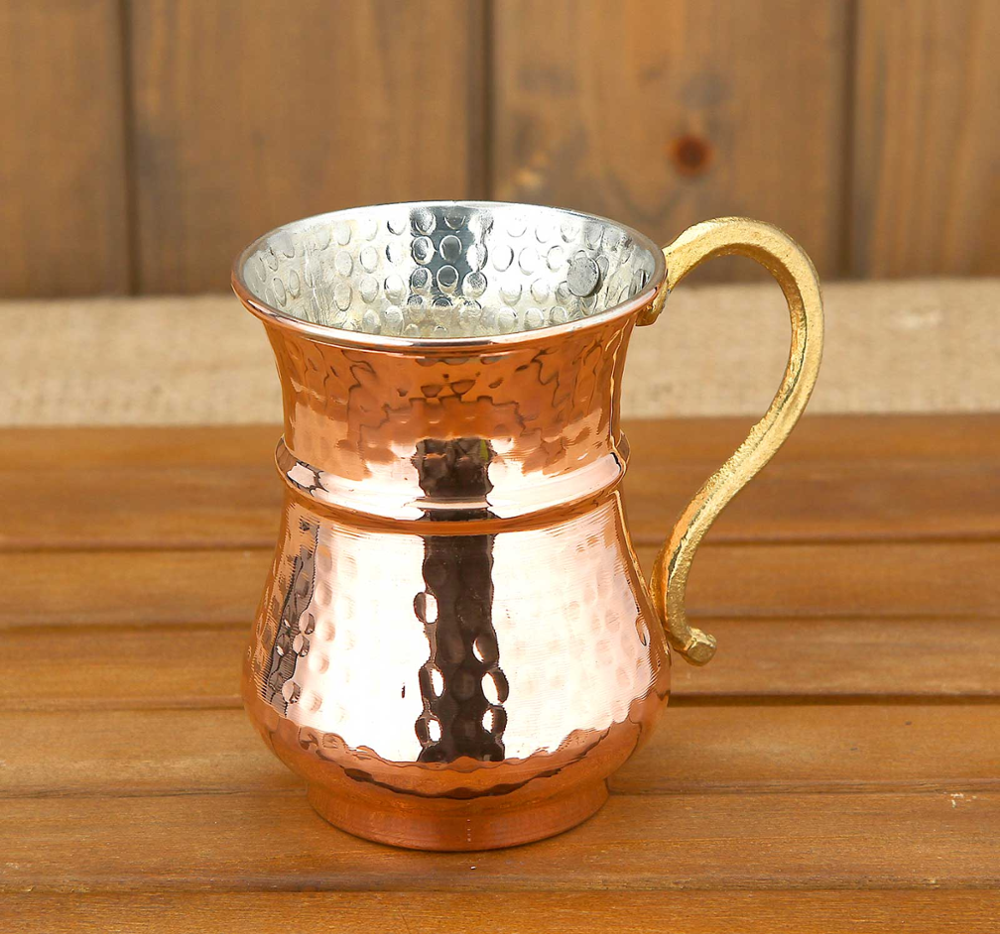 Copper Drink Water Buttermilk Coffee Tea Cup Mug Tankard Christmas Coffee Cup Tea Mug Handmade Home Kitchen Decoration Drinkwar