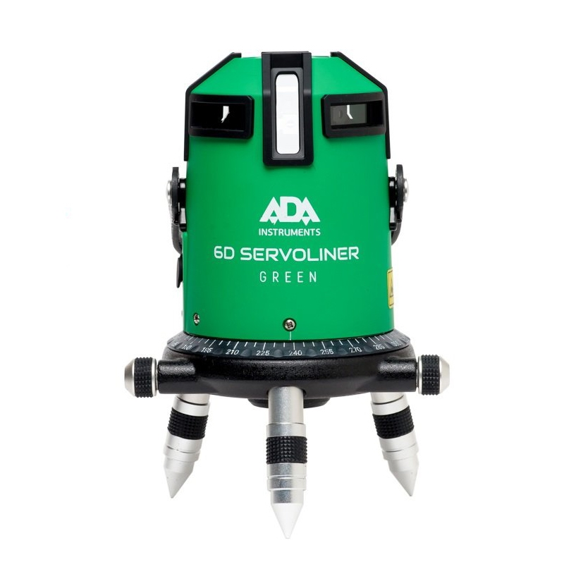 купить Laser level automatic ADA 6D Servoliner GREEN (1 line 360 °, line, plumb bob, case, magnetic dartboard) дешево