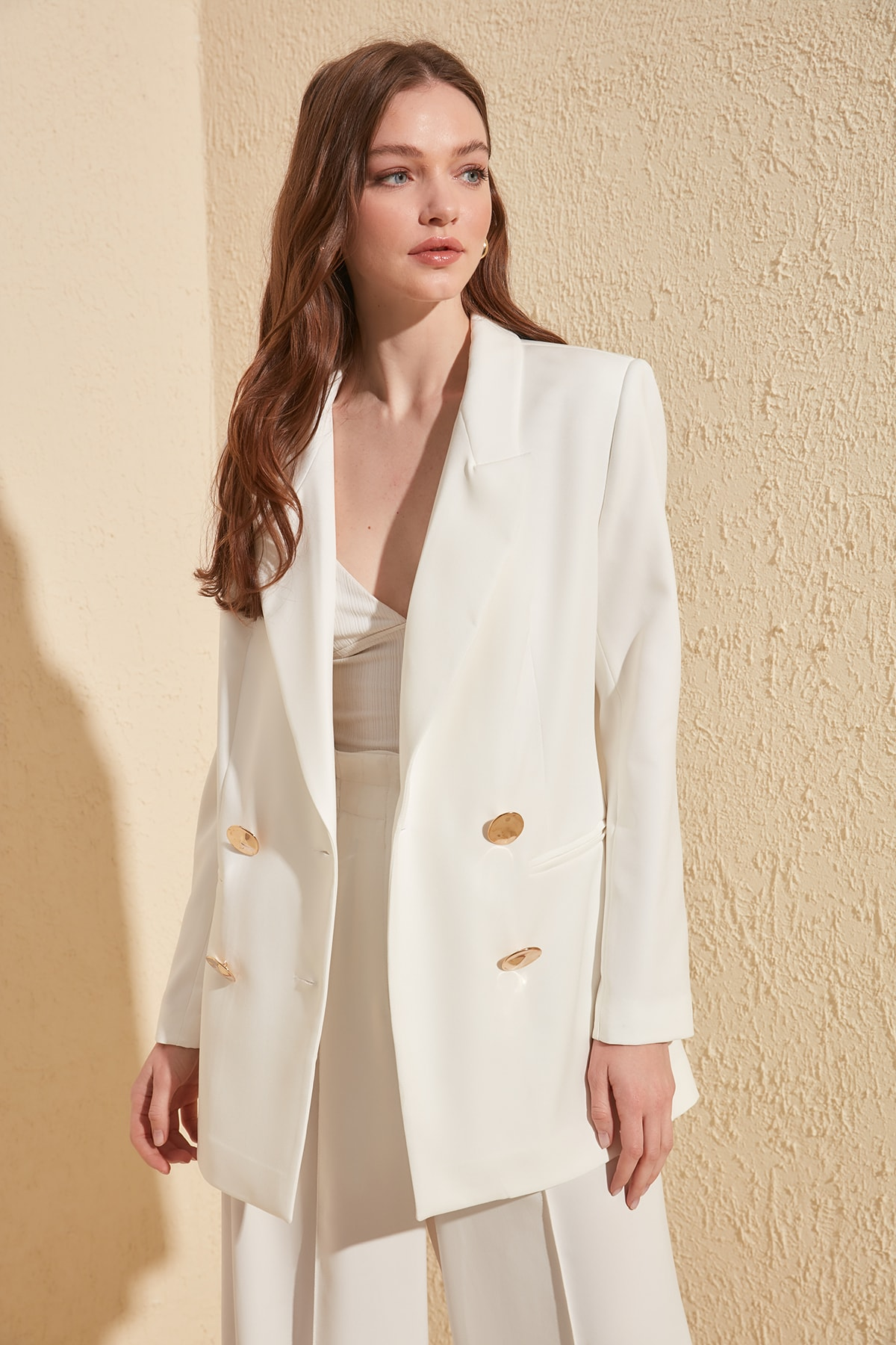 Trendyol Double Breasted Coat TWOSS20CE0193
