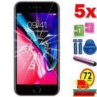 5x Protectors Screen Tempered Glass for for APPLE IPHONE 6/6 S 4.7 (Generico  not Full SEE INFO) PEN PINK Phone Screen Protectors    -