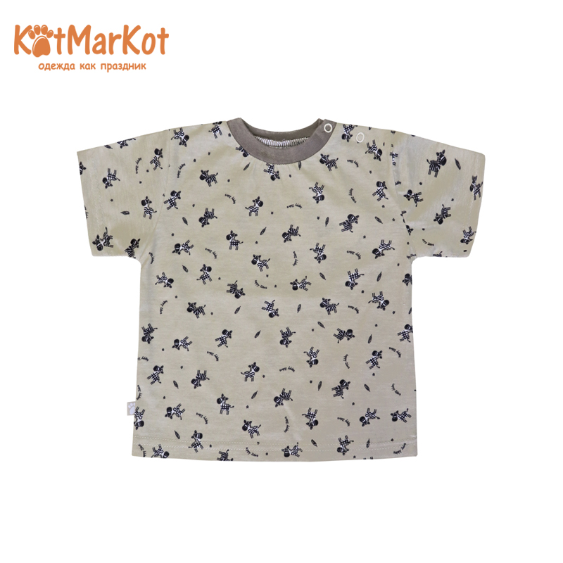 T-Shirts Kotmarkot 7094  for children t-short Jersey tee shirt baby clothes Cotton Unisex Casual Animal