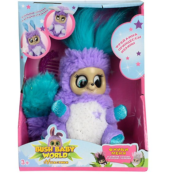 Interactive Soft Toy 1Toy Bush Baby World Puhastiki