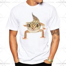Повседневное geo Ящерица Забавный печатные мужские футболки
