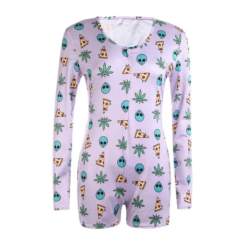 2020 신사 숙녀 섹시한 장난 꾸러기 Bodycon 캐주얼 점프 슈트 Romper 긴 소매 반바지 Leotard Home Wear Tracksuit Playsuit Pajama
