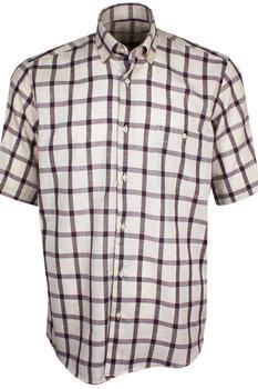 Men's shirt Plaid Checked Oxford Button-down Shirt Single Patch Pocket Casual Contrast Standard-fit short-Sleeve 88gingham shirt button down long sleeve pocket shirt